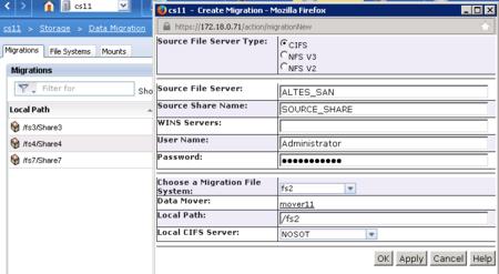Einrichten der CIFS- Migration bei einer EMC VNX