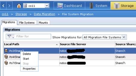 CIFS- Migration bei einer EMC VNX